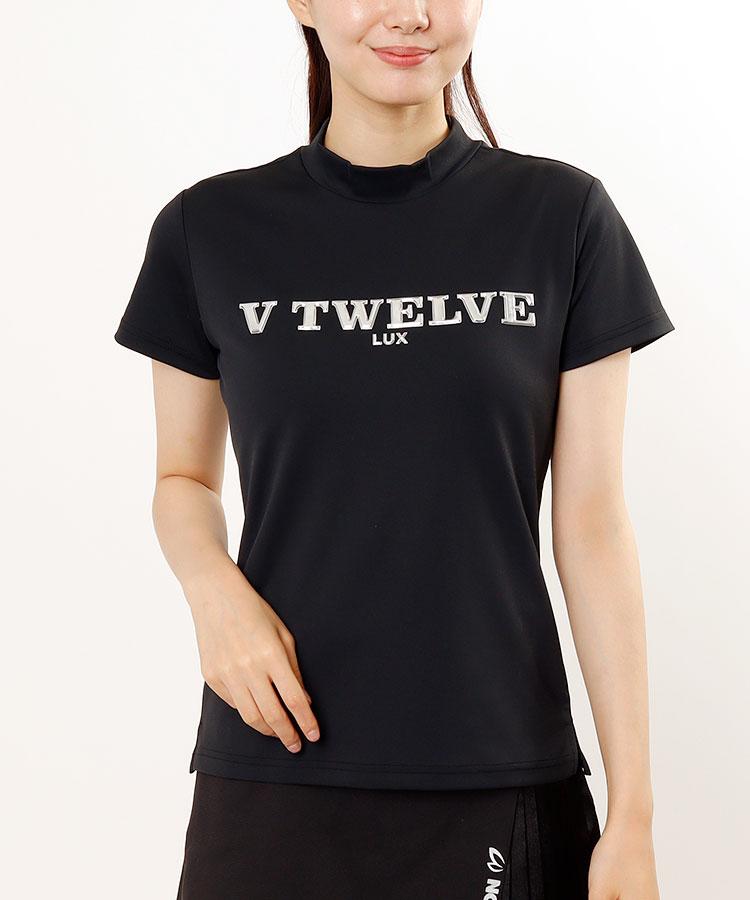 VI Frontぷっくりロゴ♪モックネック半袖カットソー