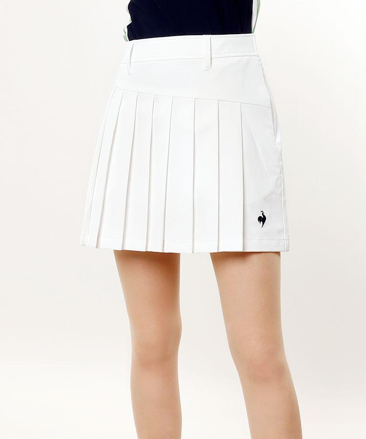 LQ [ALLIEコラボ]フロントプリーツ★ストレッチスカート