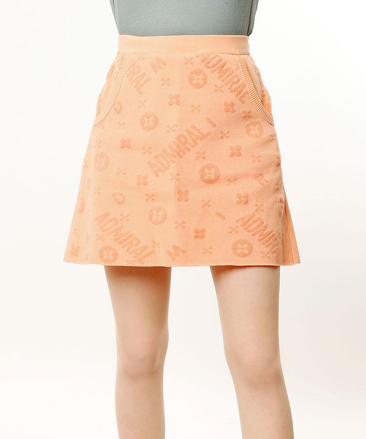 AM モノグラム◆ジャガードニットスカート