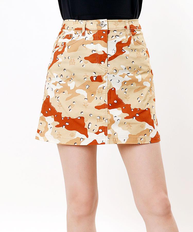 MW チョコチップ迷彩◆STRETCHサテンスカート