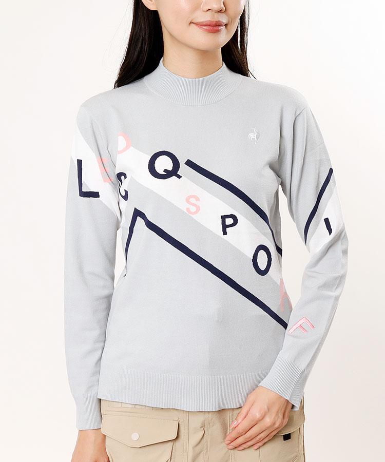 LQ ロゴ刺繍◆モックネックニット