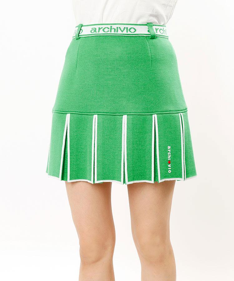 AR LINEロゴ★裾プリーツスカート