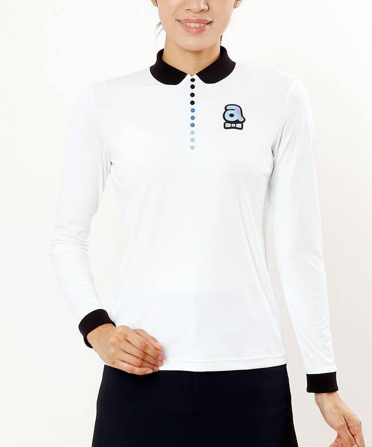 AR カラフルボタン風★DRY&UV長袖カットソー