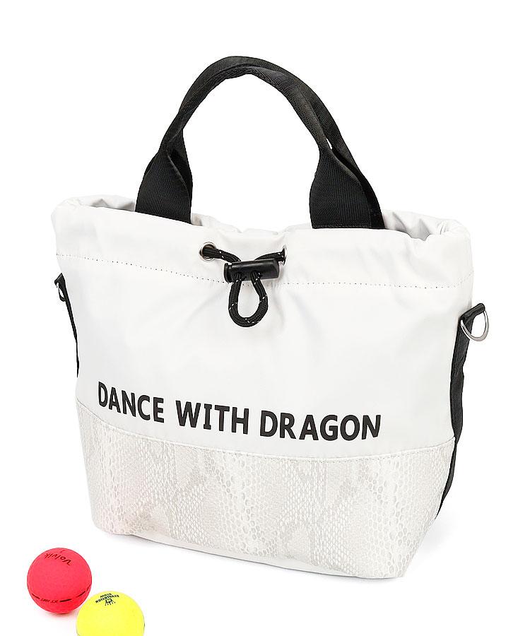 DD パイソン風切替◆2WAY巾着カートバッグ