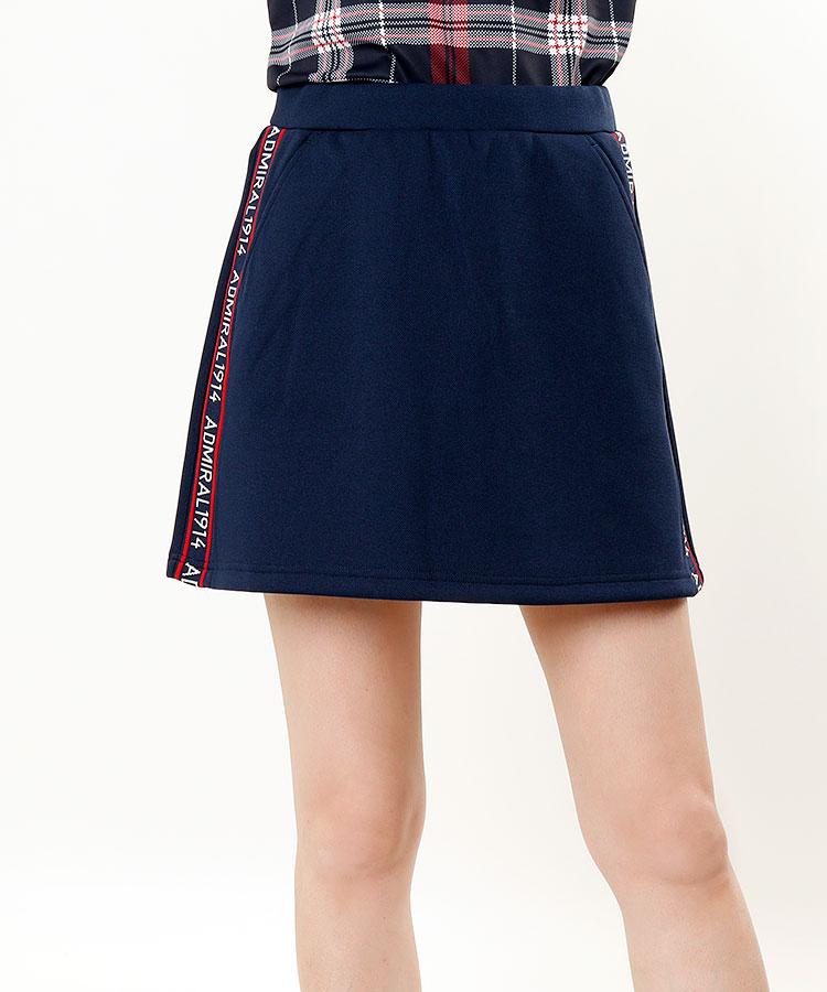 AM サイドロゴLINE◆ダンボールカノコスカート