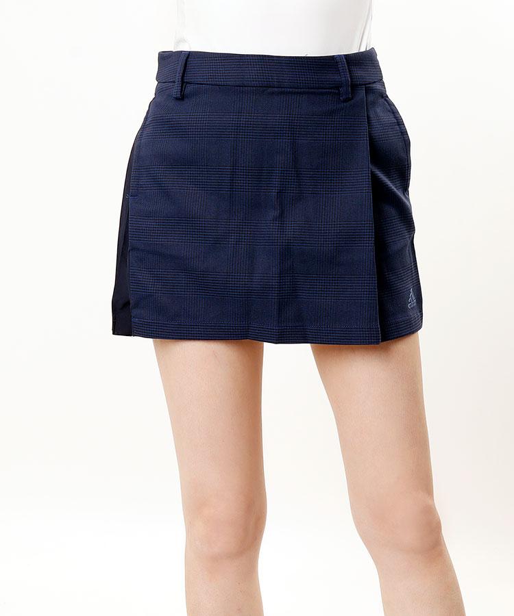 AG グレンチェック★サイドプリーツスカート