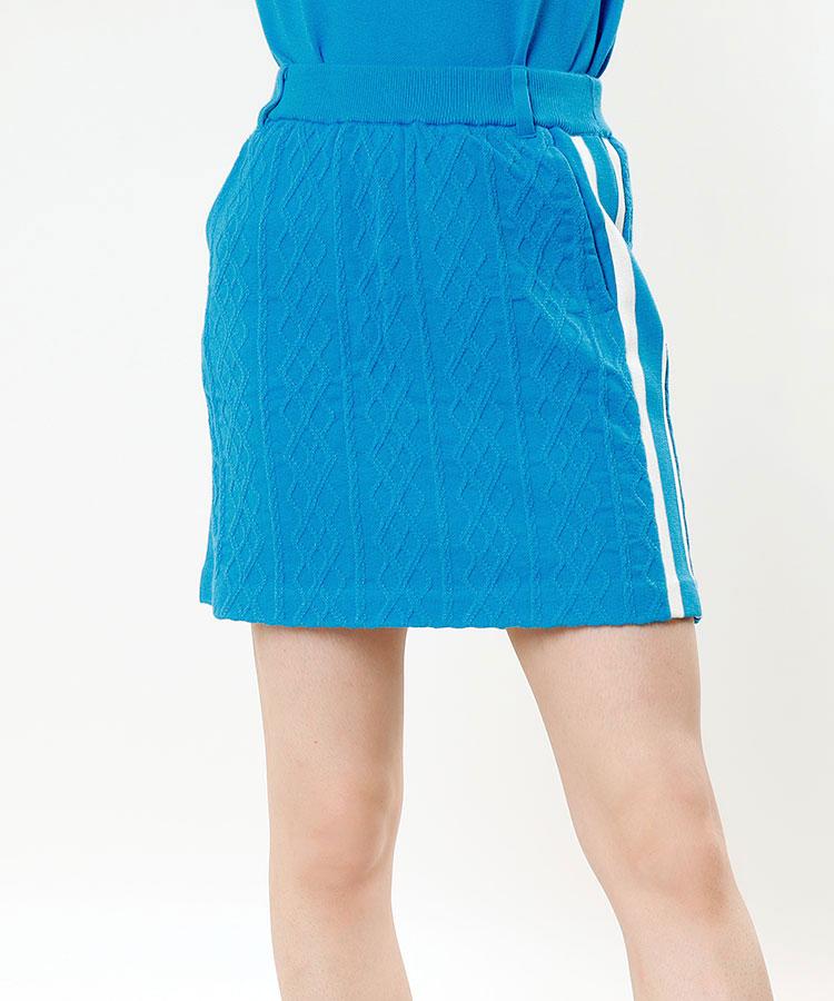 AR サイドライン◆アーガイルdesignニットスカート