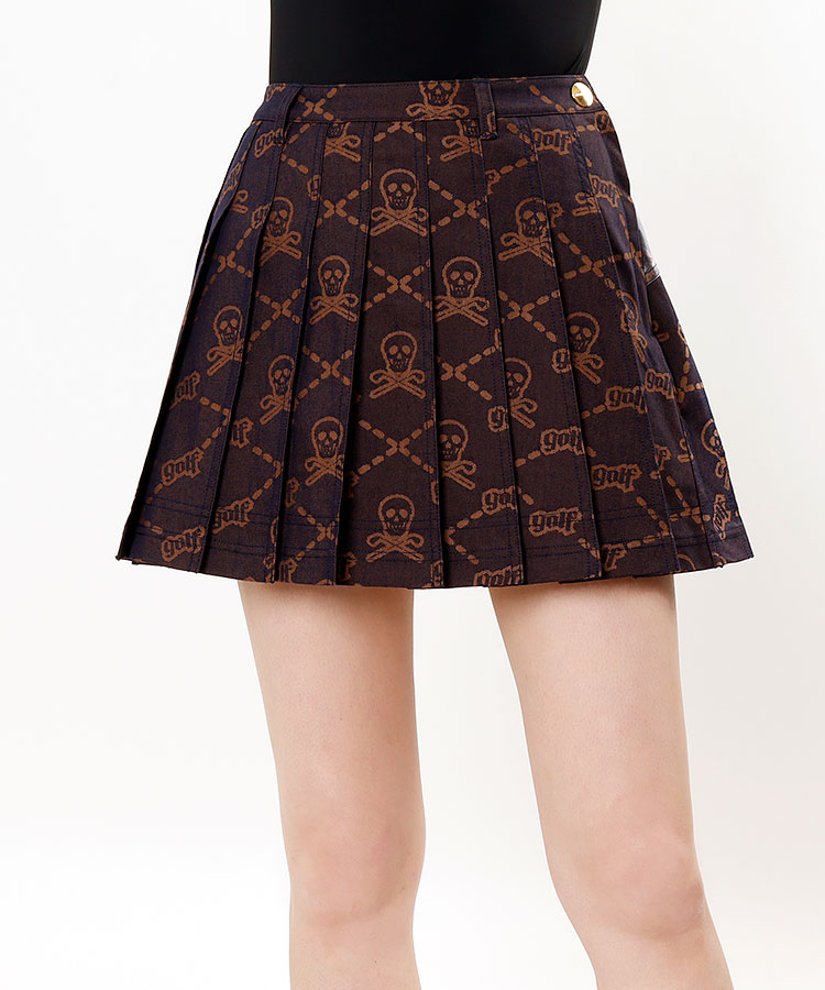 ML 一体型ペチ★LOGOプリーツスカート