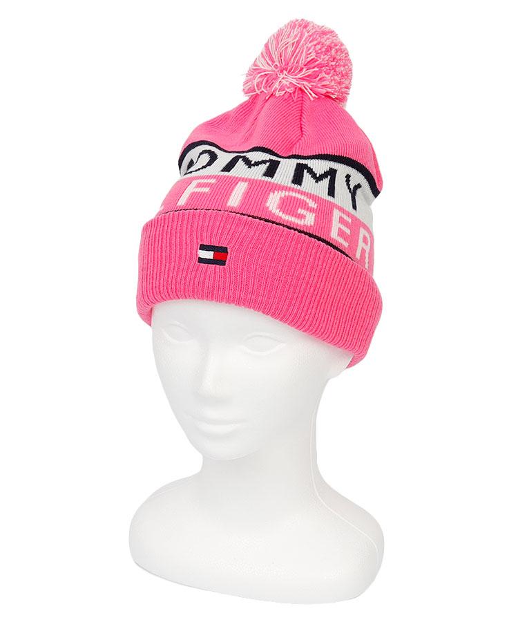 TH Frontロゴ◆ポンポンニット帽