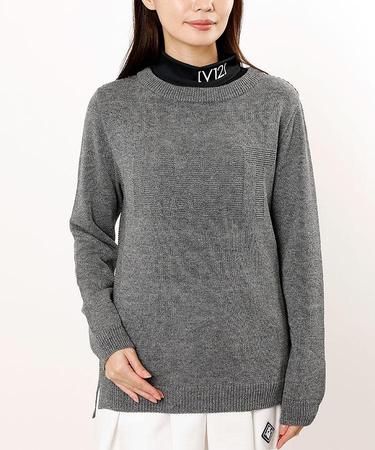 AI ブランドロゴ編み★長袖ニット