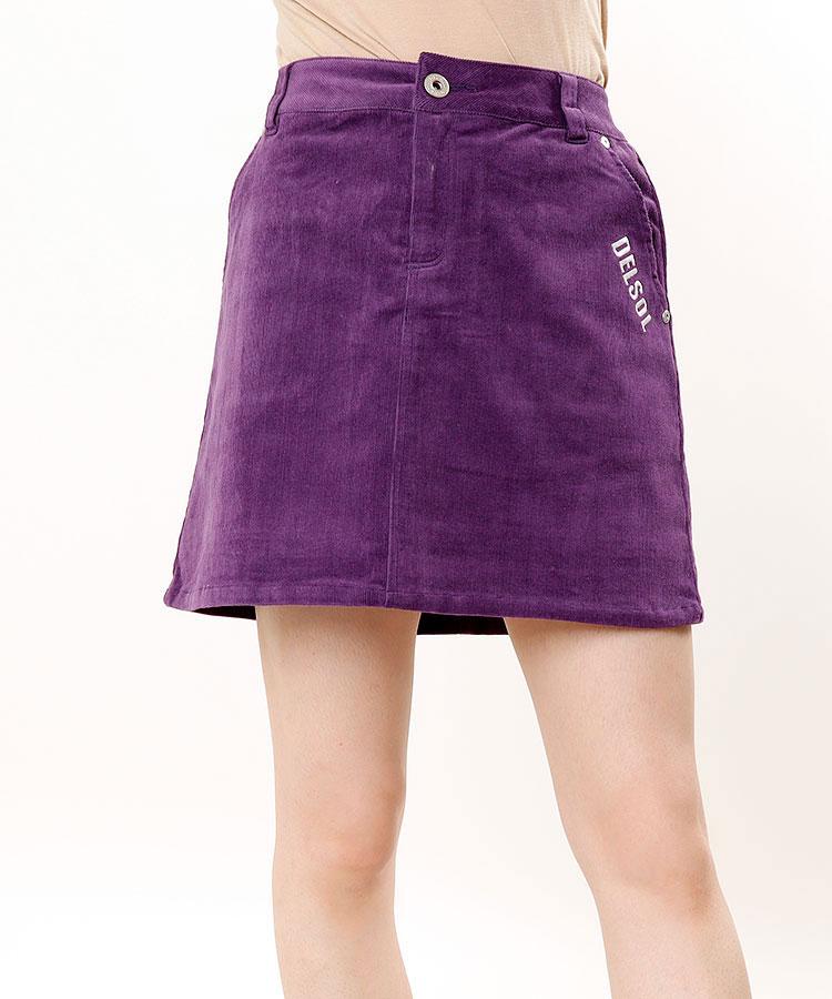 DL ワッペン風刺繍◆コーデュロイBOXスカート