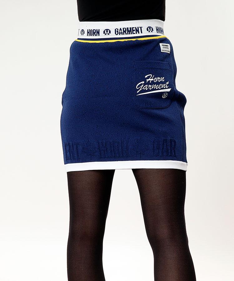HO ウエストロゴLine刺繍★ニットスカート