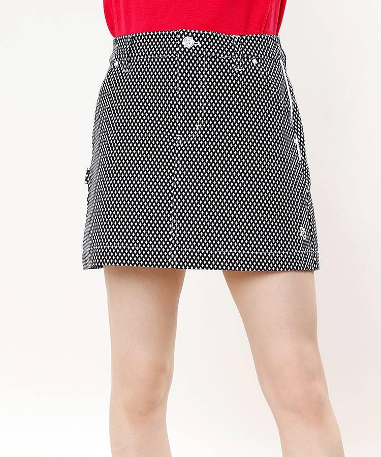PG ダイヤ小紋柄◆ストレッチBOXスカート
