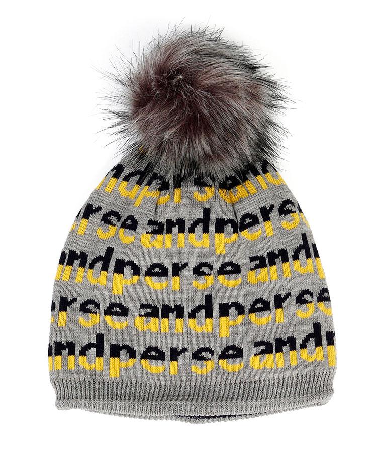 AP ファー付き★リバーシブルニット帽
