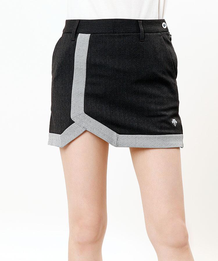 DE へリンボーンMIX★スリットスカート