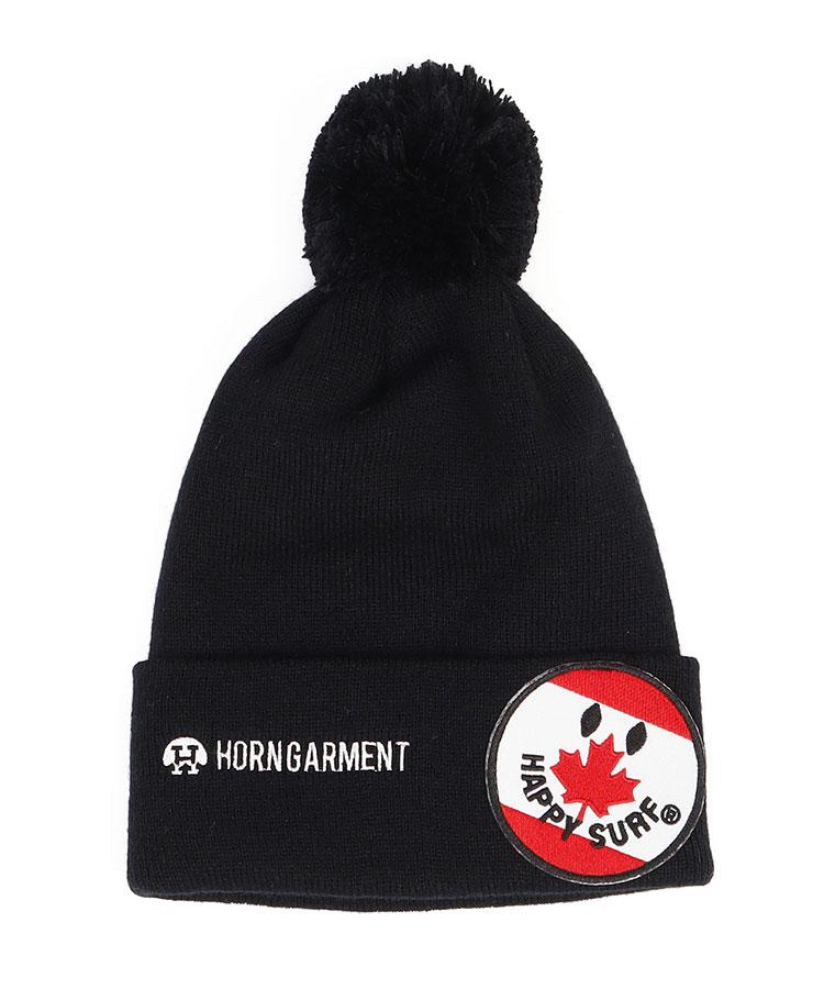HO メイプルワッペン♪ポンポンニット帽