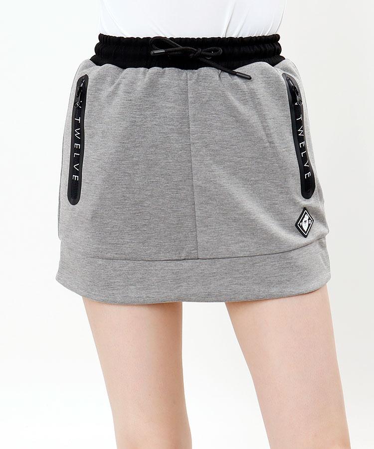 VI ロゴZIPポケット★台形スカート