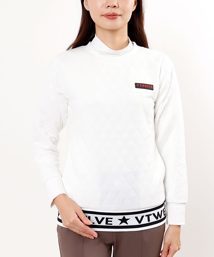 VI キルティング★ロゴプルオーバー