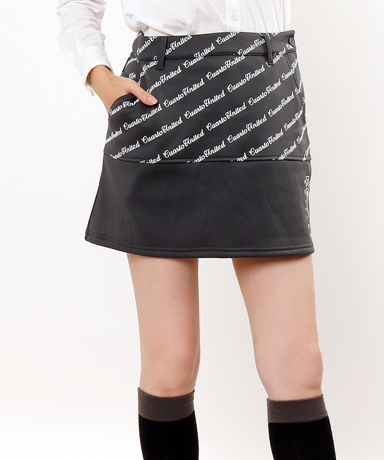 CU Backプリーツ風★バイヤス切替スカート