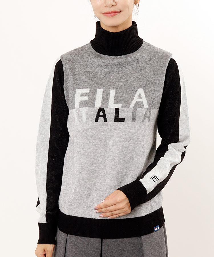 FG ブロック切替◆ハイネックセーター
