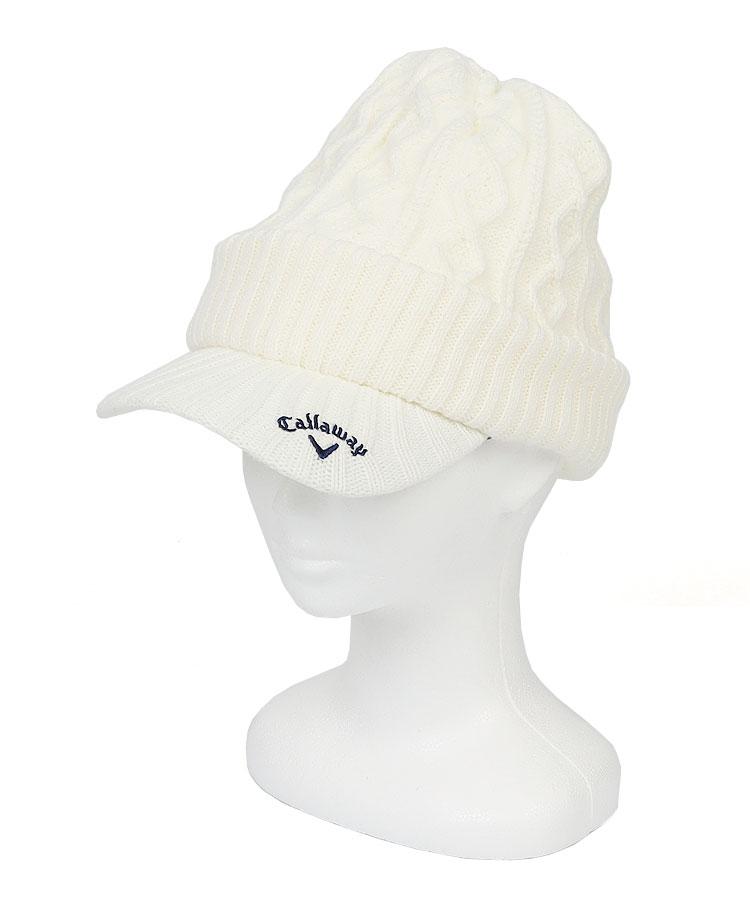 CA つば付きニット帽