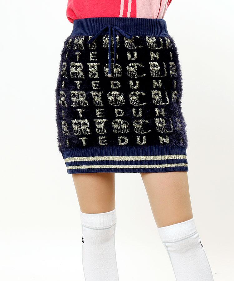 CU 裏地付き★ラメニットスカート