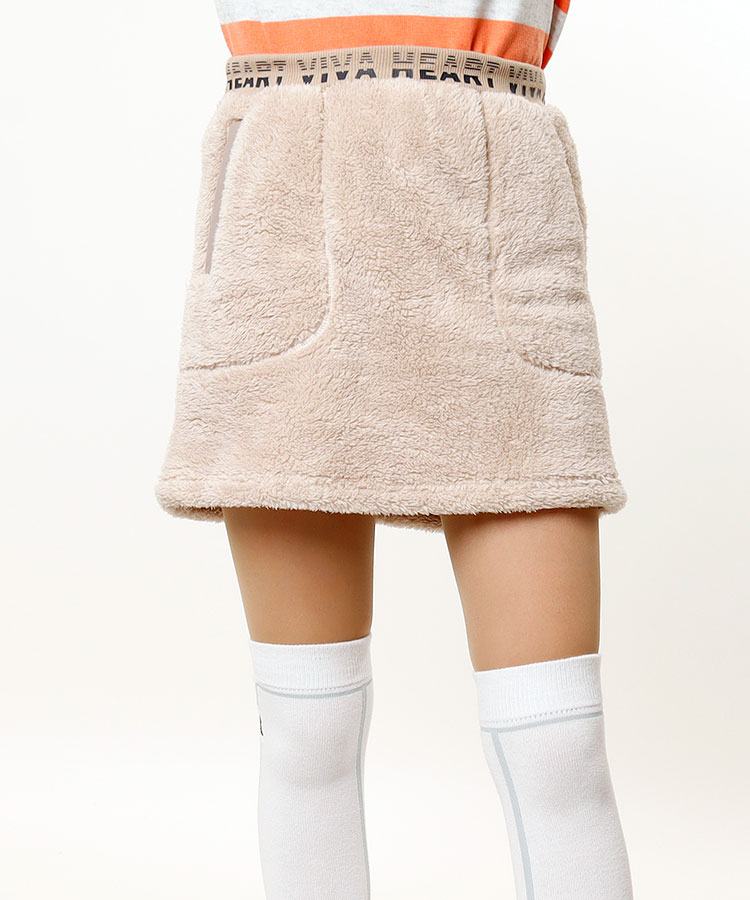 VH ふわふわ★ボア台形スカート