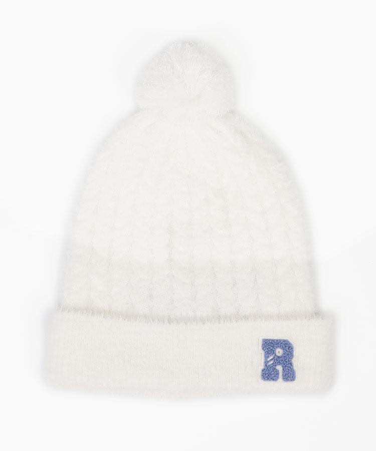 RO フェザー調ニット帽