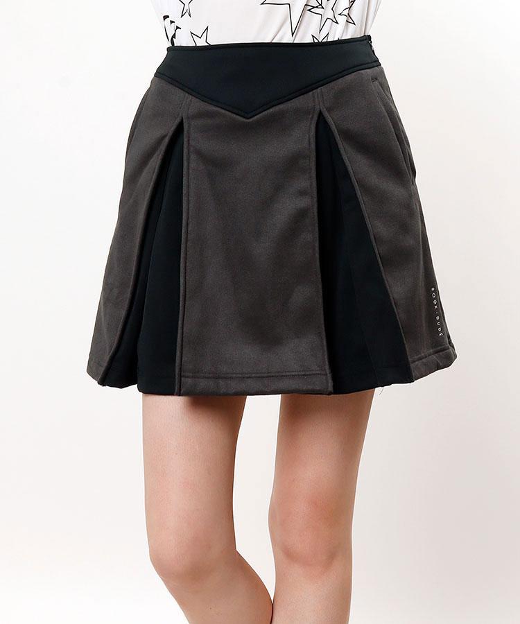 RD スエード切替♪プリーツスカート