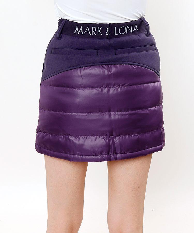 ML ウェストロゴ◆異素材MIXスカート