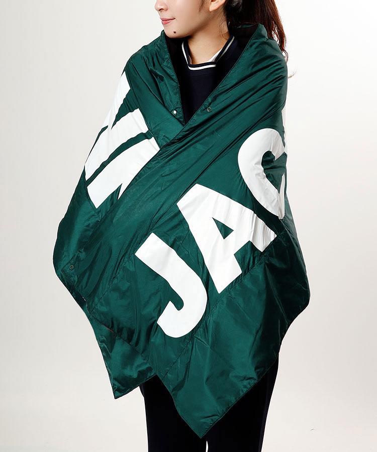 JB 吸湿発熱◆リバーシ大判ダウンショール