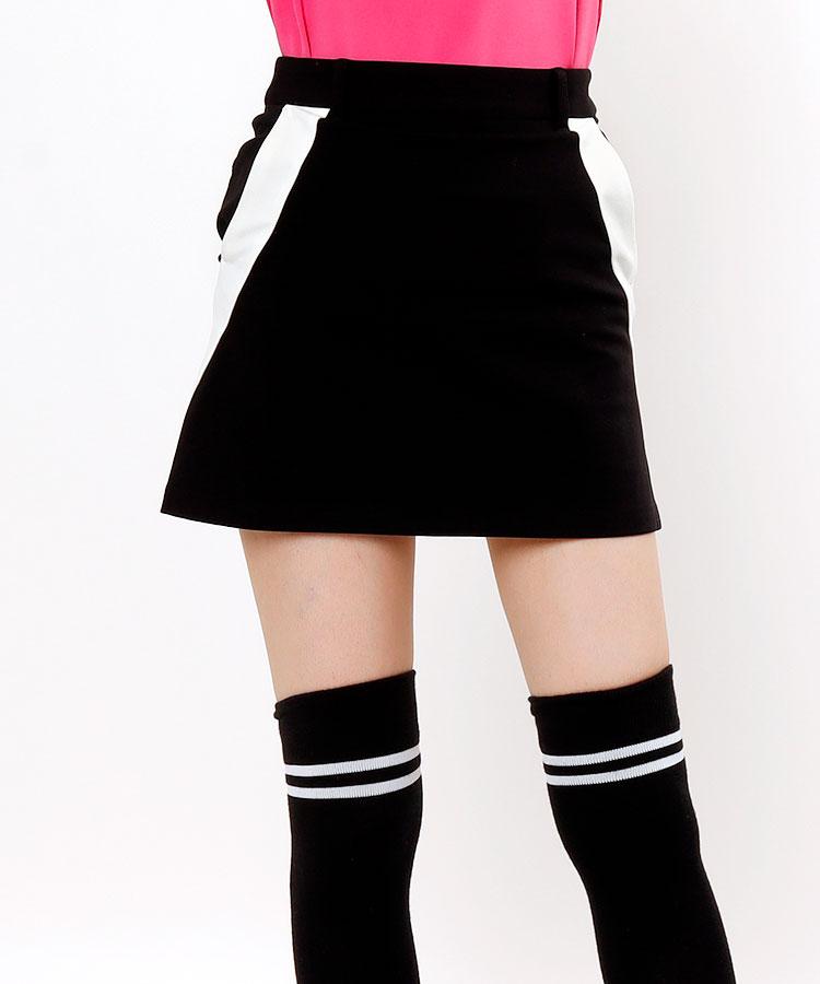 JR 【10/18まで限定タイムセール】配色ライン◆裏起毛スカート