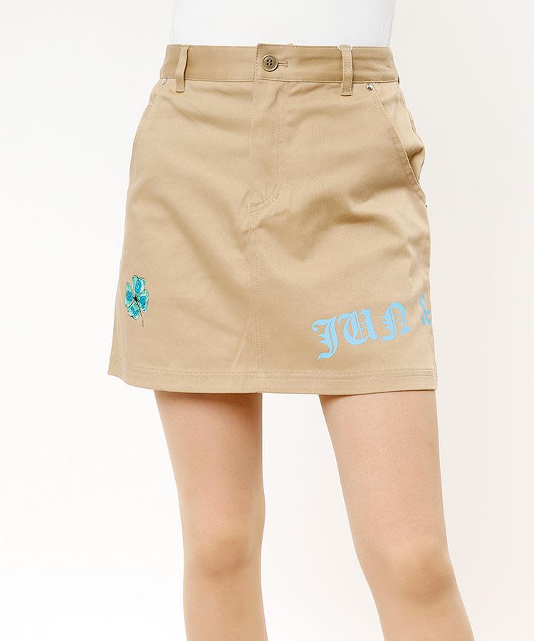 JR 【10/18まで限定タイムセール】クローバープリント◆台形スカート