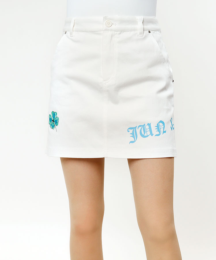 JR クローバープリント◆台形スカート