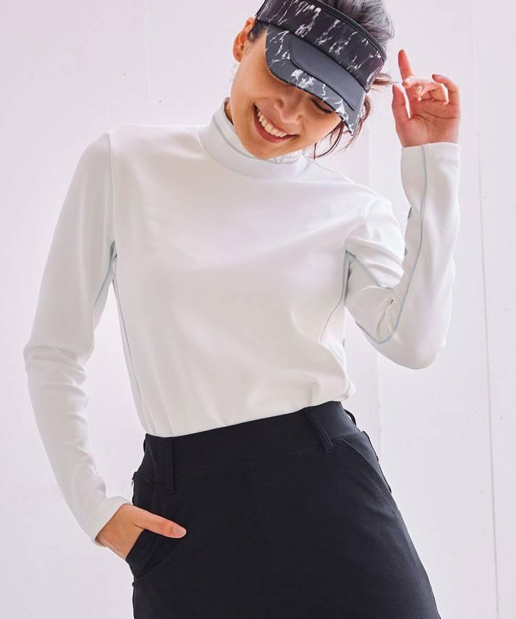 AS SportyLine★長袖モックネックカットソー