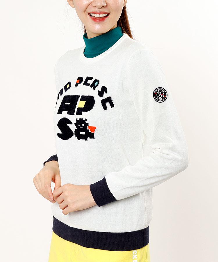 AP モヘアロゴ★クルーネックセーター