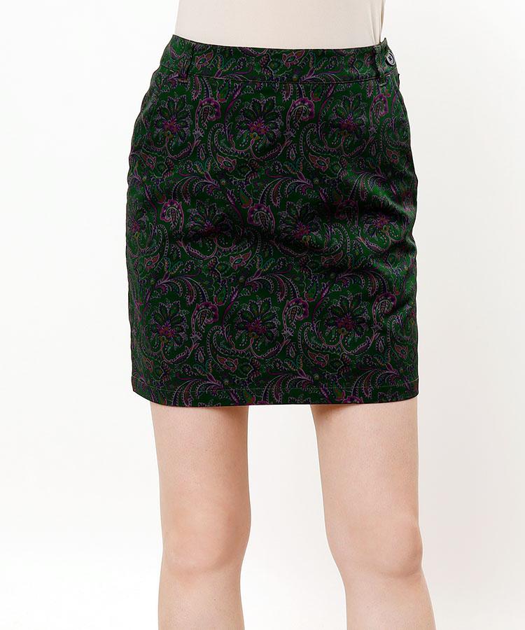 BE ペイズリー柄スカート