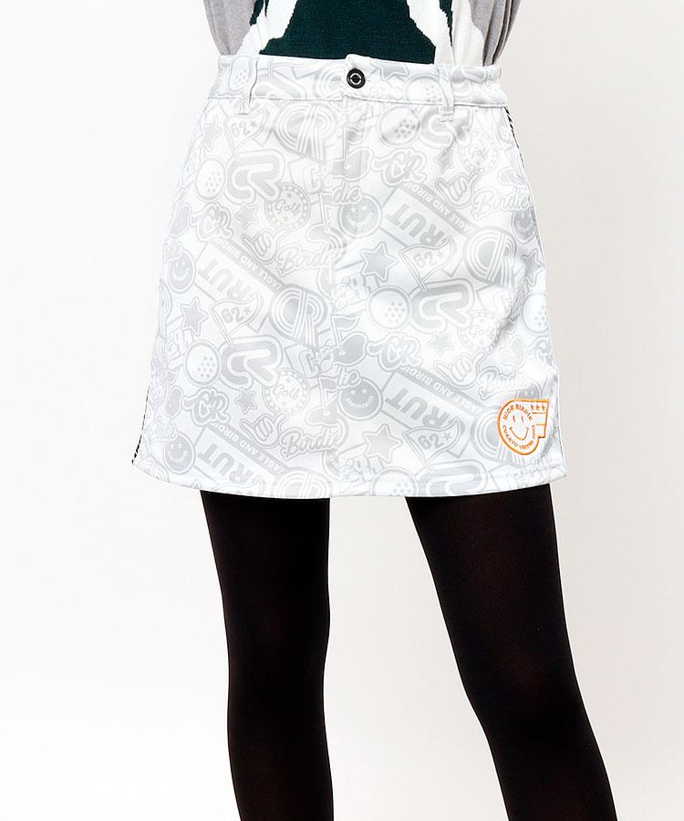 CU ロゴ総柄★あったか台形スカート