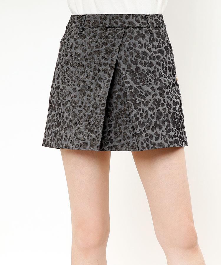 SA レオパ柄◆ラメジャガードスカート
