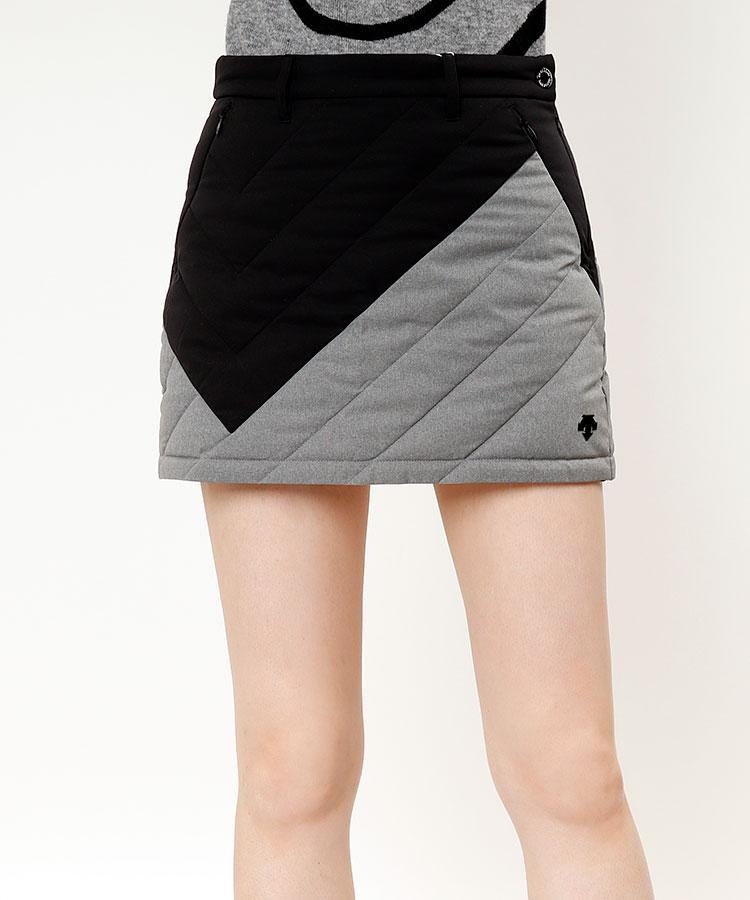 DE 撥水◆ブロック配色ダウンスカート