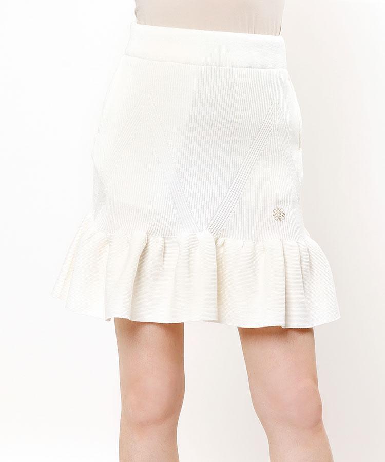 SA 裾フレア◆セミタイトニットスカート