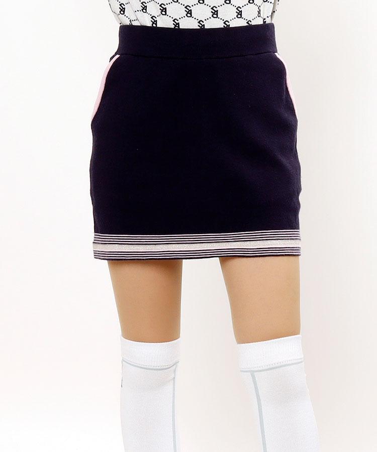 SD ペチパンツ付き♪LINEニットスカート