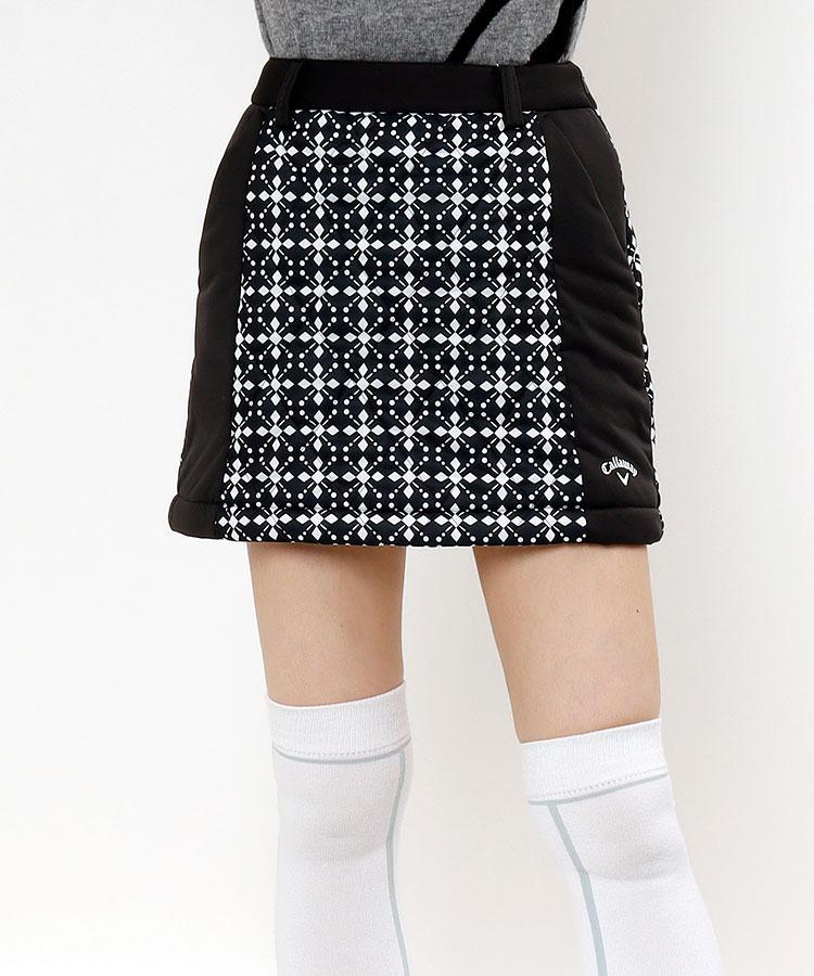 CA 幾何学ダイヤ柄◆中綿入りスカート