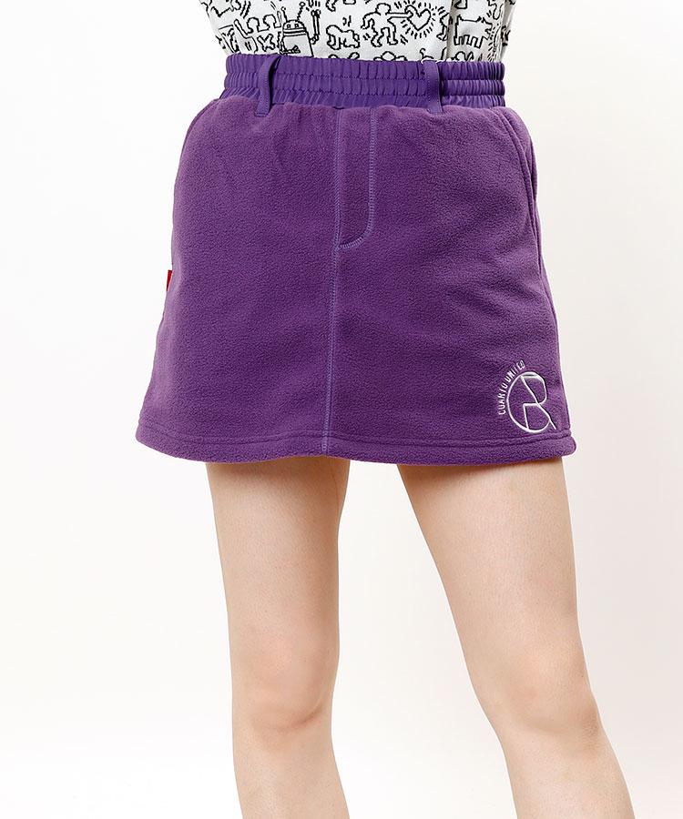 CU ロゴ刺しゅう◆フリーススカート