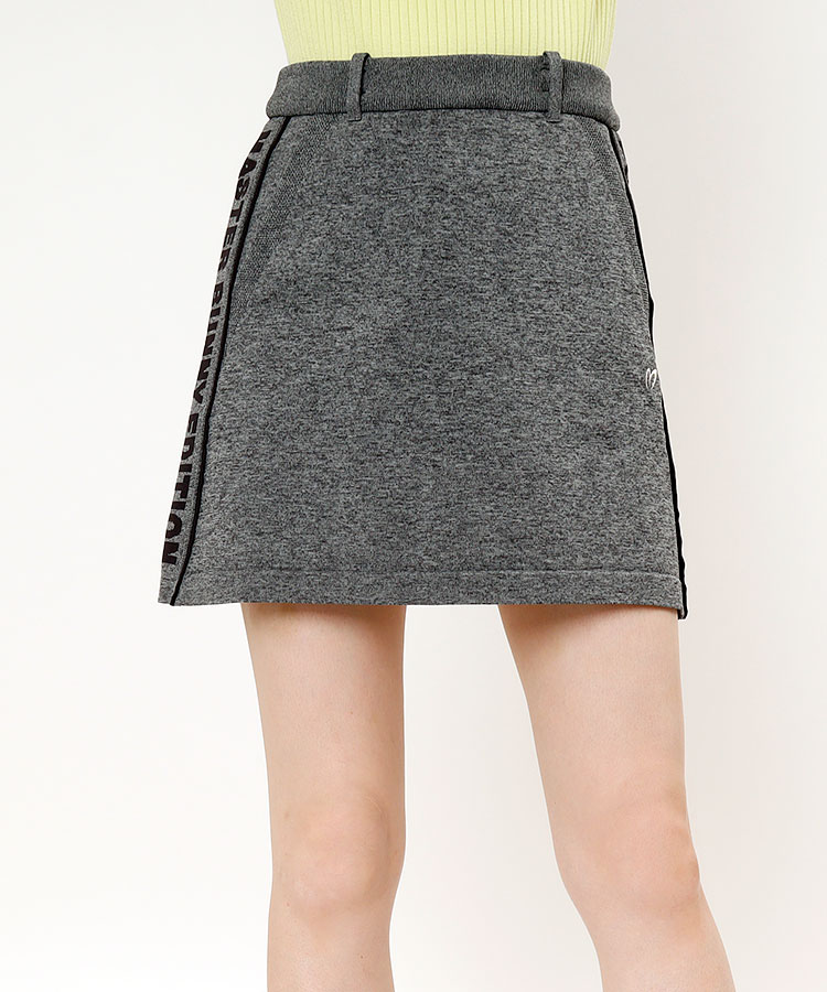 MB サイドロゴ◆ジャガードニットBOXスカート
