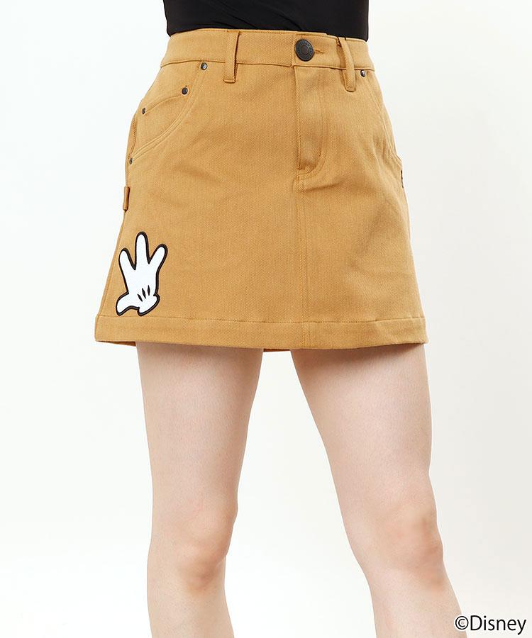 PG ミッキーマウス/handワッペン付きスカート