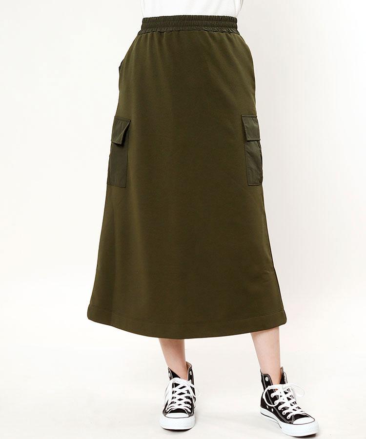NG 異素材MIX♪カーゴロングスカート